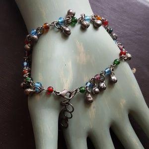 Jewelry - Gypsy belly dance boho ankle bracelet bells beads.